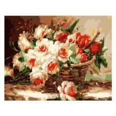 Картины по номерам «Букет в корзине»