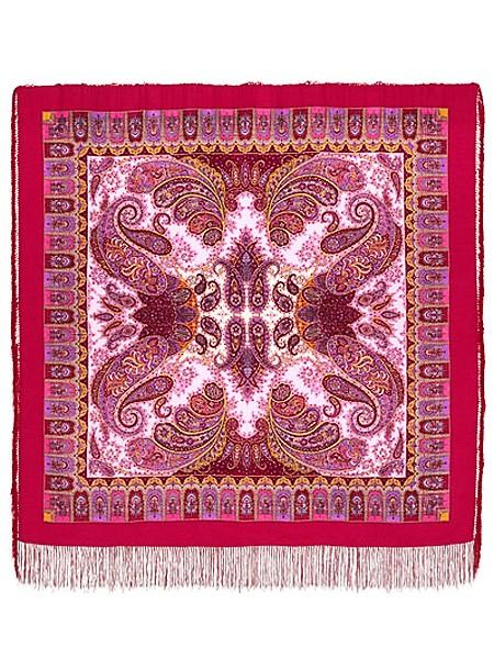 Павлопосадский шерстяной платок с рисунком Фаворит