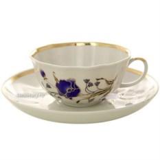 Фарфоровый чайный сервиз на 6 персон Синий мак