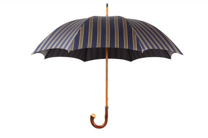 Зонт Mario Talarico, синий с зелеными полосками