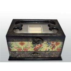 Шкатулка для украшений с цветочным рисунком