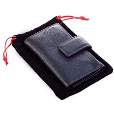 Чехол для ключей Viaggi, черный с красной отделкой