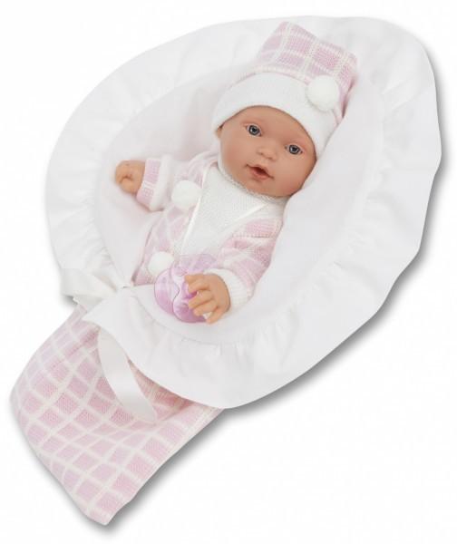 Плачущая кукла-младенец Бланка в розовом