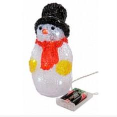 Светящаяся фигурка Снеговичок в красном шарфе