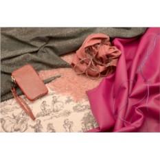 Кожаная сумочка универсальная, цвет «Красная симфония»