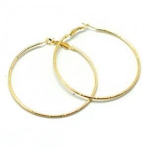 Серьги Кольца большие (золотые)