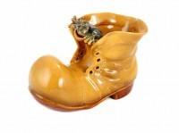 Кашпо «Ботинок желтый»