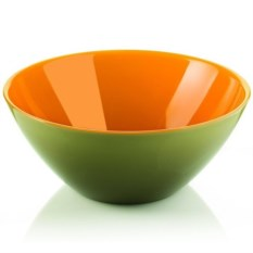 Оранжево-зеленая салатница My Fusion