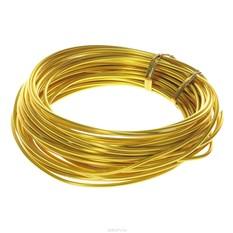 Проволока для рукоделия Астра, цвет: золотистый (17), 2 мм х 10 м