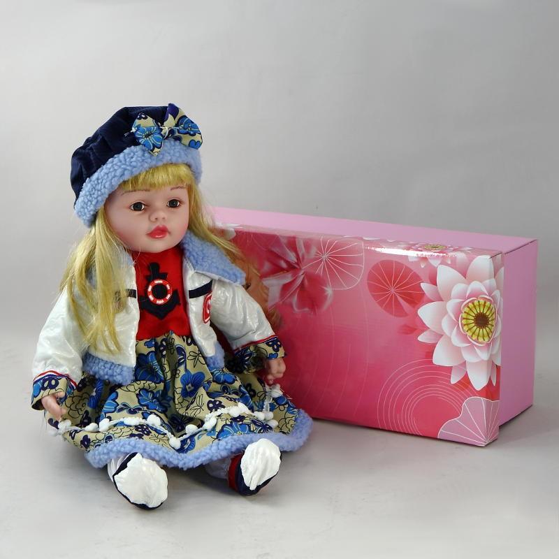 Декоративная виниловая девочка-кукла