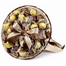 Букет из конфет Птичье молоко (цвет: коричневый)