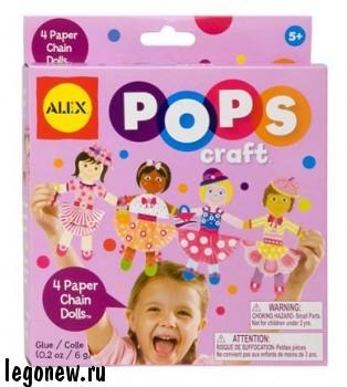 Набор для творчества Гирлянда из 4-х бумажных куколок