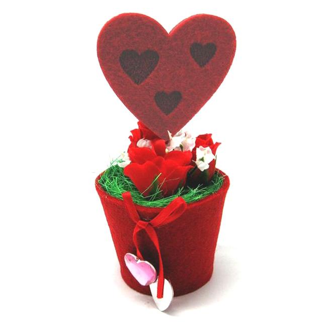 Валентинка «Сердце в горшке»