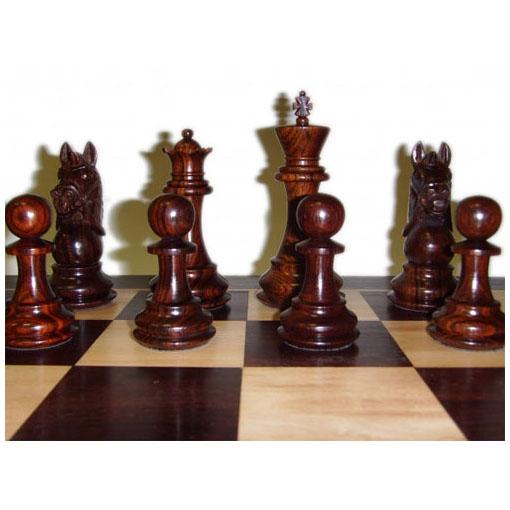 Шахматы «Завоеватель», красное дерево