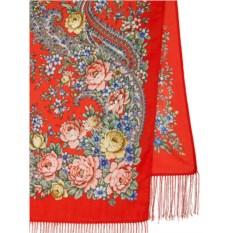 Павлопосадский шарф Цветочный роман