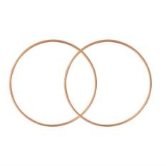 Позолоченные серьги-кольца диаметром 75 мм
