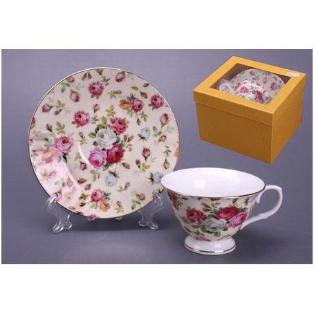Чайный набор на 1 персону «Розы»