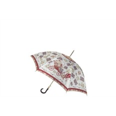 Коричневый зонт-трость Eleganza