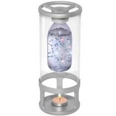 Прозрачная с серебряным блеском лава-лампа Фаерфлоу О1