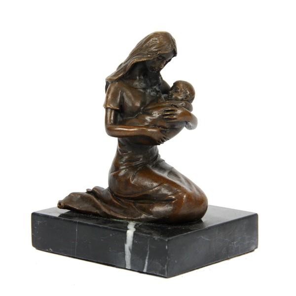 Бронзовая статуэтка Девушка с ребёнком