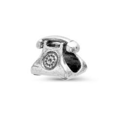 Серебряная подвеска в виде ретро-телефона