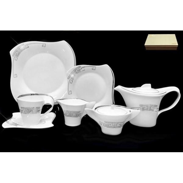 Фарфоровый чайный сервиз 24 предмета Givenchi platinum