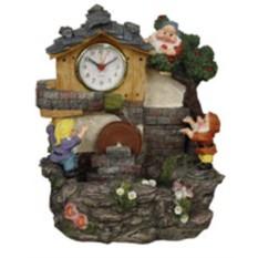 Фонтан Гномы с часами и колесом