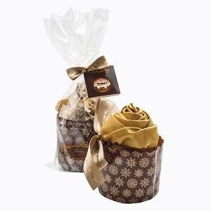 Полотенце «Кекс «Золотая роза в карамели»