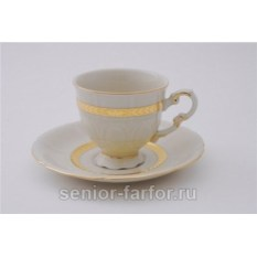 Набор чашек 0,15 л с блюдцем Leander Соната, слоновая кость 31050