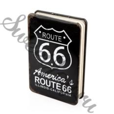 Металлический блокнот Route 66