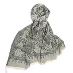 Серая шерстяная шаль Petrusse Glamour Silver