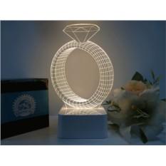 3D лампа Обручальное кольцо