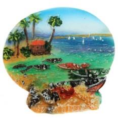Тарелка декоративная Морская бухта 3D