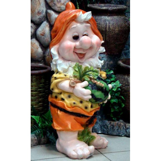 Фигура «Садовый гном с арбузом»