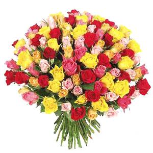 Цветочная корзина из 59 роз