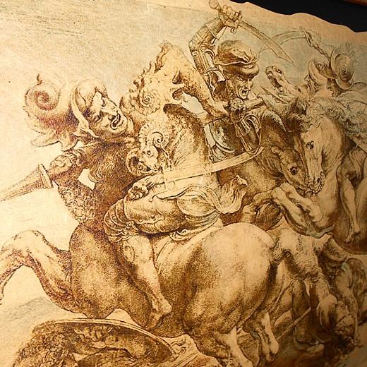 Картина на коже Битва при Ангьяри