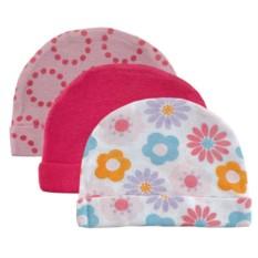 Розовый комплект из 3 детских шапочек