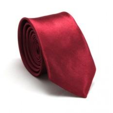 Узкий галстук (рубиновый)