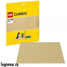 Желтая строительная пластина для конструктора Лего Классик