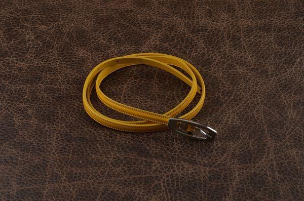 Кожаный ремень. Коллекция FAVORIT (желтый)