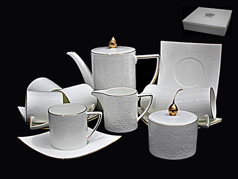 Чайный сервиз Белая роза из 15 предметов