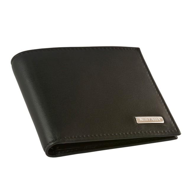 Мужской бумажник Neri Karra, две секции для купюр