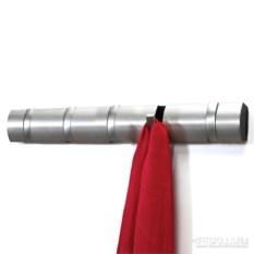 Серебристая настенная вешалка на 5 крючков Flip