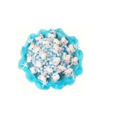 Букет из мягких игрушек Котята голубого цвета