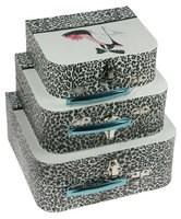 Комплект коробок-сундучков из 3-х шт. Гламур со стразами