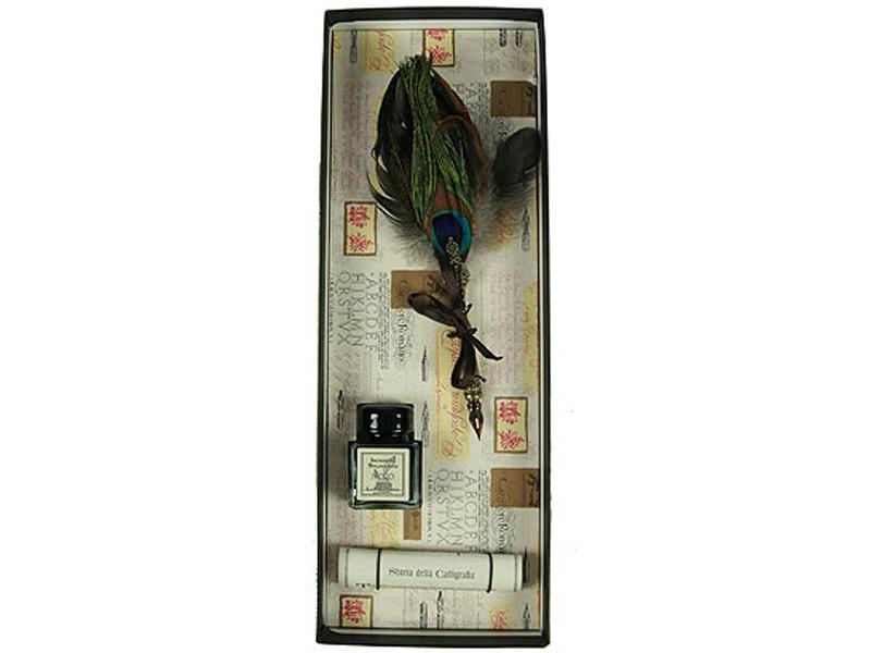 Подарочный набор для письма Перо павлина
