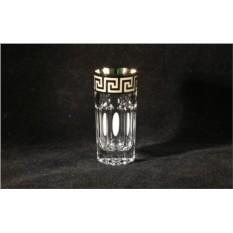 Подарочный набор из 6 хрустальных стопок для водки Versace Silver