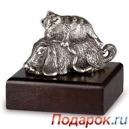 Серебряная статуэтка «Котопёс»
