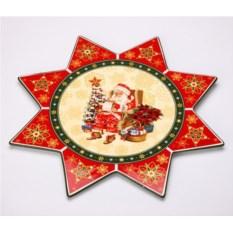 Блюдо Christmas collection с красным рисунком