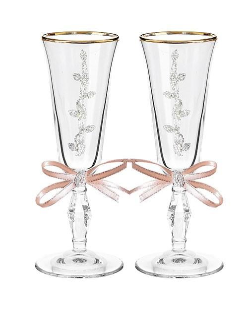 Набор свадебных бокалов Ретро №20 в картонной коробке